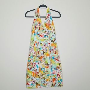 Miss Dorby Printed Colorful Halter Neck Dress 8